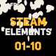 Liquid Elements Steam 01-10 - VideoHive Item for Sale