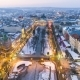 Aerial View of Lviv City Centre in Snow From Above in Winter. Lviv, Ukraine. - VideoHive Item for Sale