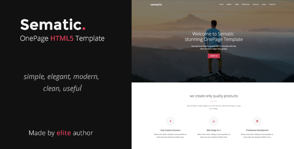 Sematic - One Page HTML5 Template