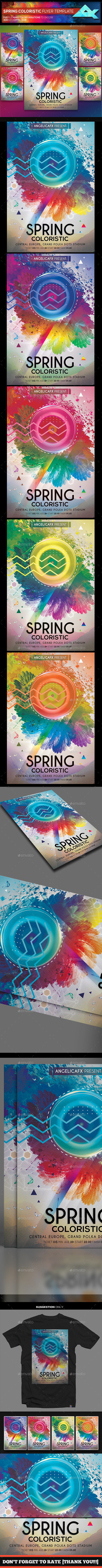 Spring Colorific Flyer Template - Flyers Print Templates