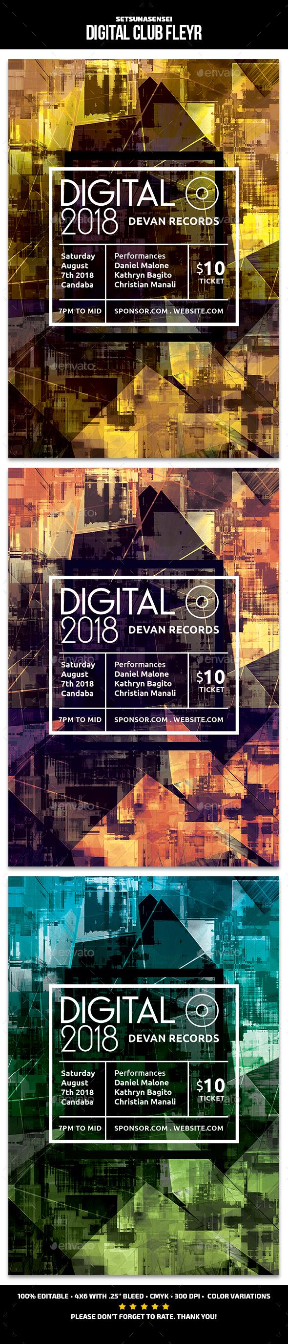 Digital Club Flyer - Events Flyers