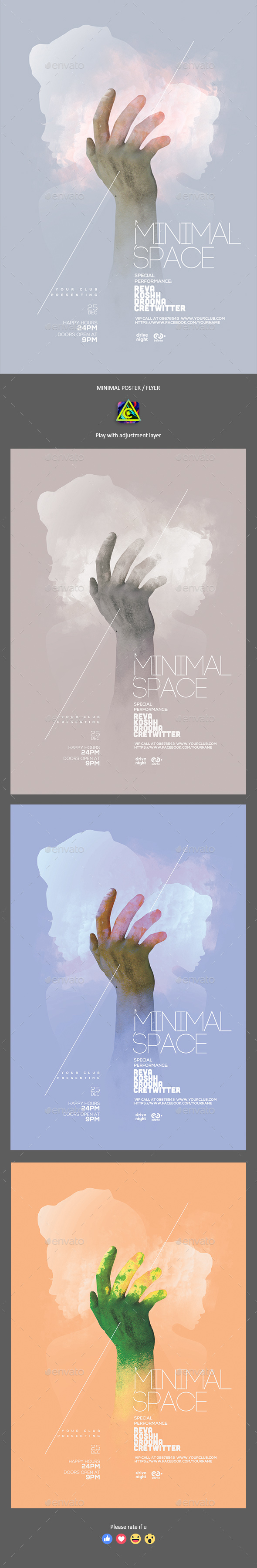 Minimal Club Poster / Flyer - Clubs & Parties Events
