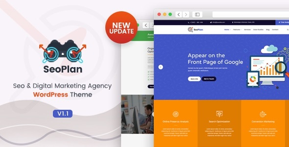 SeoPlan & Digital Marketing Agency WordPress Theme - Marketing Corporate