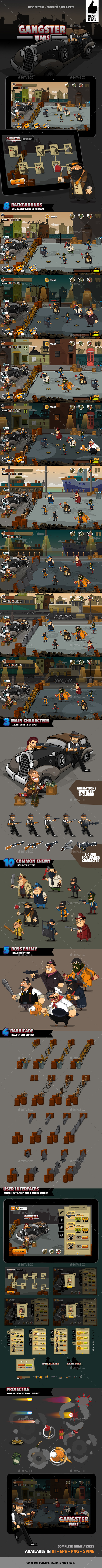 Gangster Wars - Game Kits Game Assets