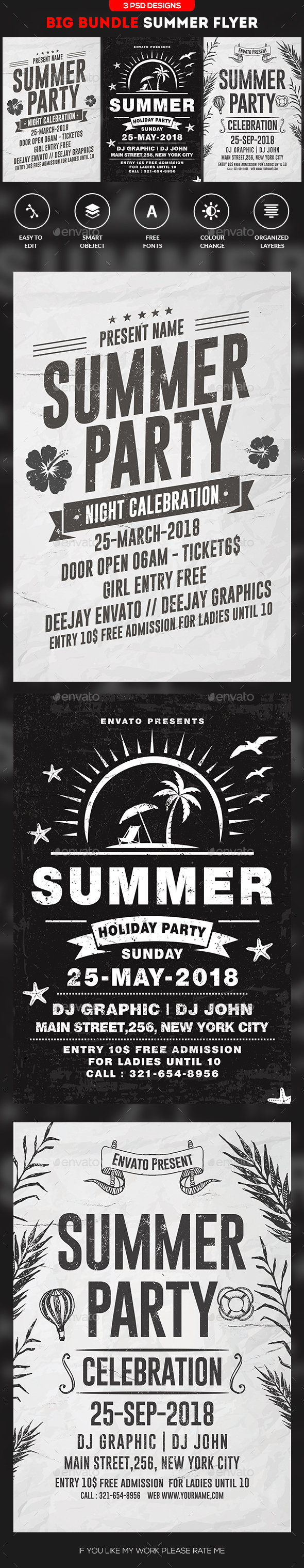 Summer Flyer Bundle - Clubs & Parties Events