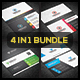 4 in 1 Bundle - Business Card - GraphicRiver Item for Sale