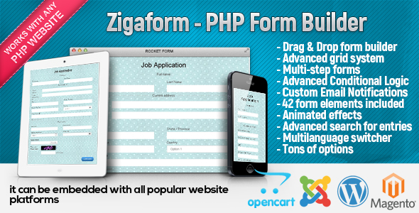 Zigaform - PHP Form Builder - Contact & Survey nulled free download