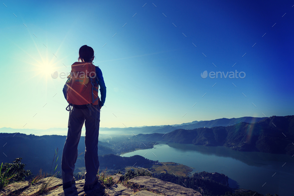 Hiking in Nepal - Stock Photo - Images