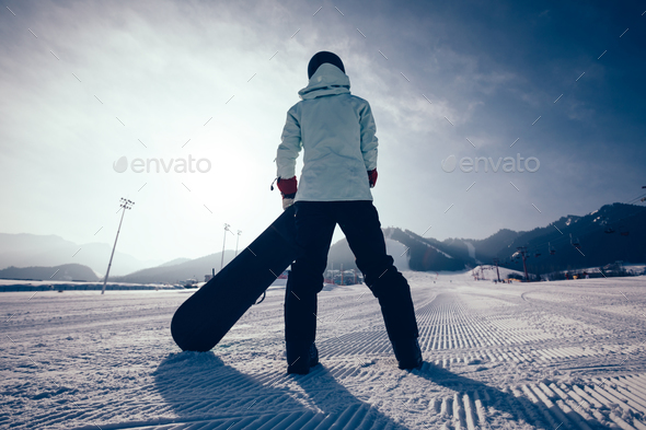 Ready for snowboarding  - Stock Photo - Images