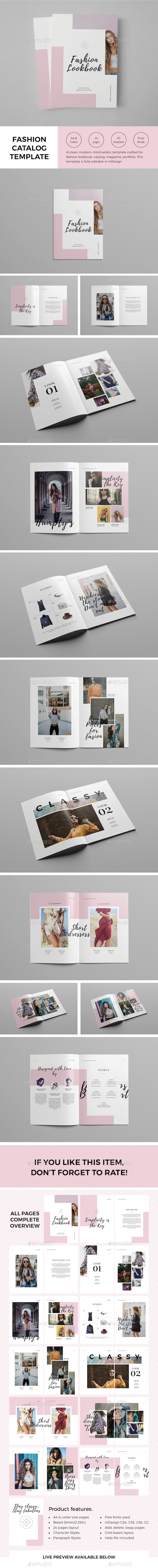 Fashion Catalog / Lookbook Template - Catalogs Brochures