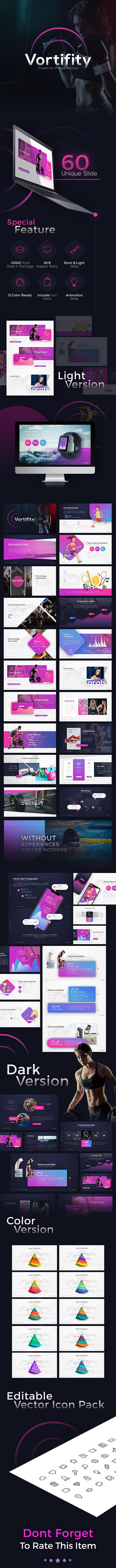 Vortifity Creative Sport Presentation - PowerPoint Templates Presentation Templates
