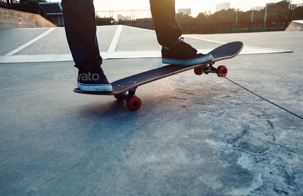 Skateboarding legs - Stock Photo - Images