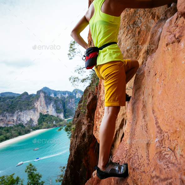 Rock climbing - Stock Photo - Images