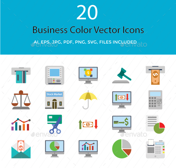 Business and Finance Color Vector icons - Icons