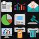 Business and Finance Color Vector icons