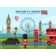 Background Vector Illustration with London Urban
