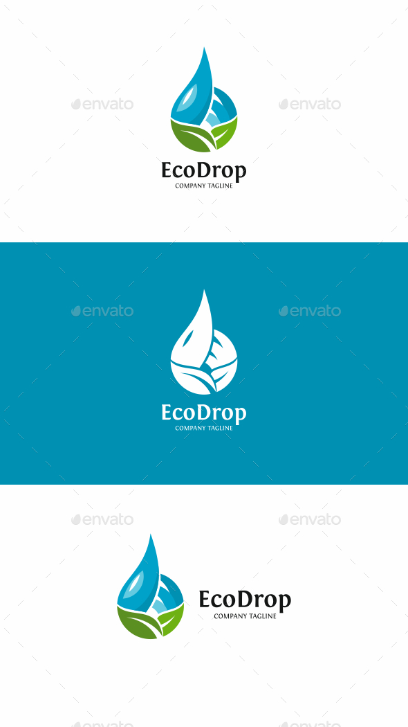 Eco Drop Logo - Nature Logo Templates