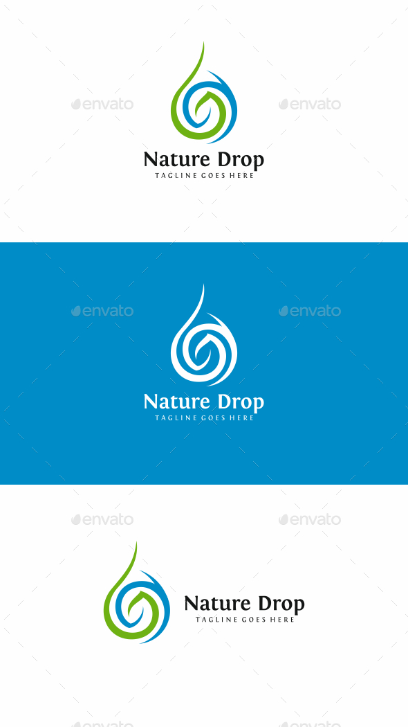 Nature Drop logo - Nature Logo Templates