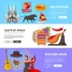 Horizontal Banners with Illustrations of Cultural