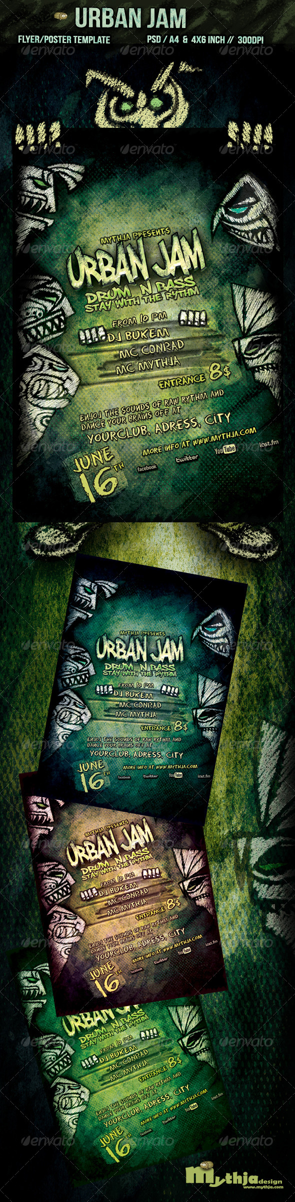Urban Jam Flyer/Poster Template - Events Flyers