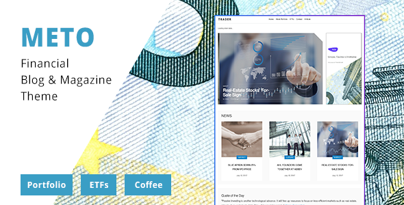 Meto - Financial Blog - Designed for Investors, Traders and Economists - Blog / Magazine WordPress