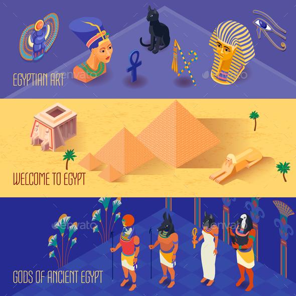 Egypt Banners Set - Religion Conceptual