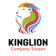 Colorful Lion Head Logo