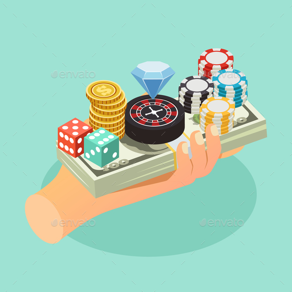 Casino Isometric Background - Miscellaneous Conceptual