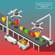 Agricultural Robots Isometric Background
