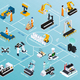 Production Technologies Isometric Flowchart - GraphicRiver Item for Sale