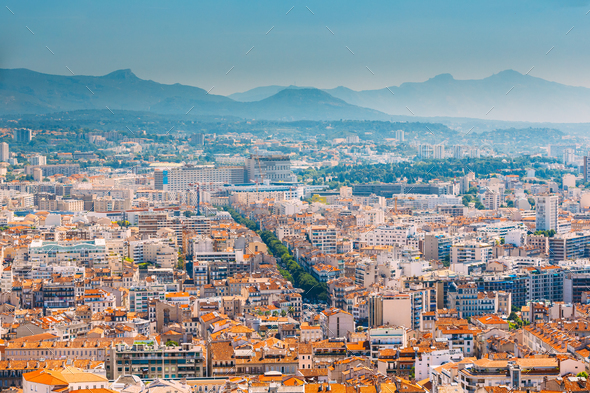 Cityscape of Marseille, France. Urban - Stock Photo - Images