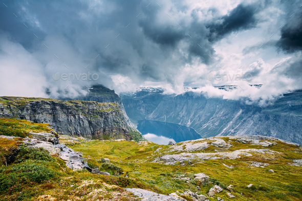 Mountains Landscape in Norway. Scandinavia. - Stock Photo - Images