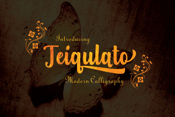 Teiqulato Script - Calligraphy Script