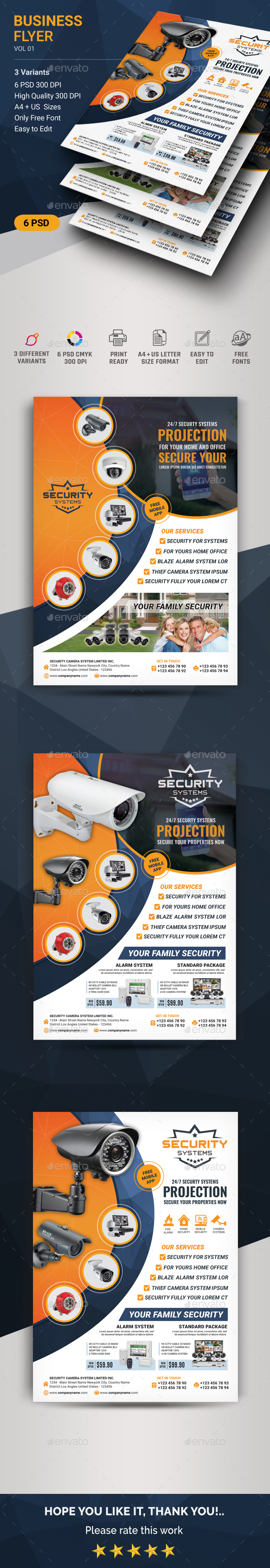 Security Systems Flyer - Flyers Print Templates