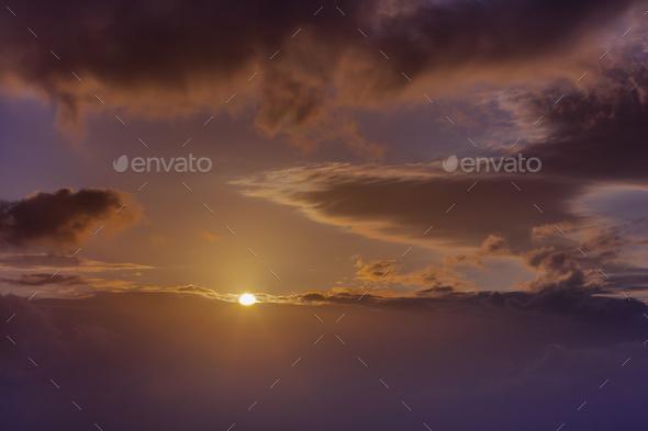 sunrise at sea - Stock Photo - Images