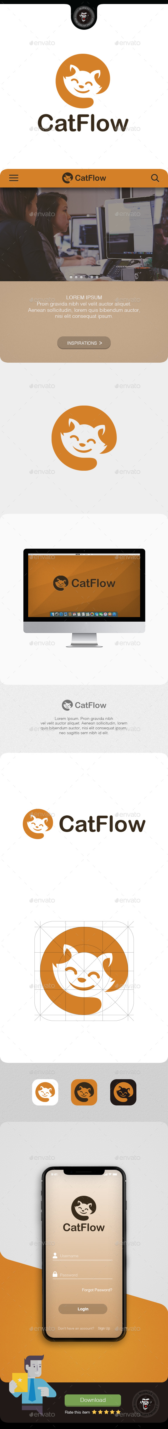 Catflow - Animals Logo Templates
