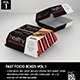 Fast Food Boxes Vol.1:Take Out Packaging Mock Ups - GraphicRiver Item for Sale
