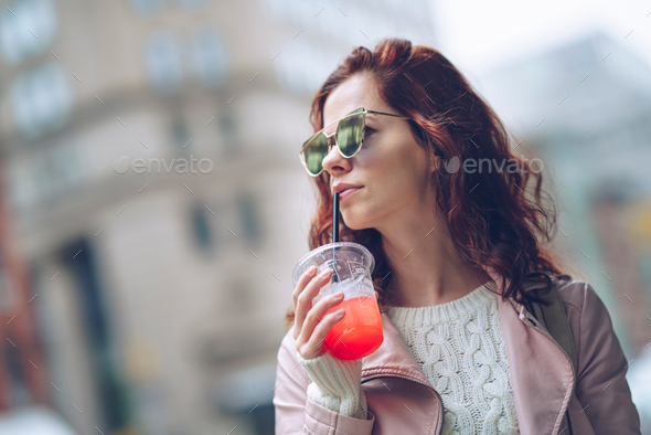 Attractive young girl - Stock Photo - Images