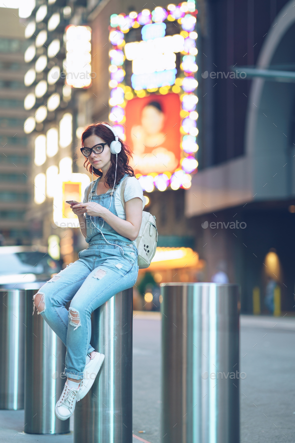 Young girl outdoors - Stock Photo - Images
