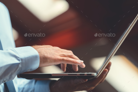Working businessman close-up - Stock Photo - Images
