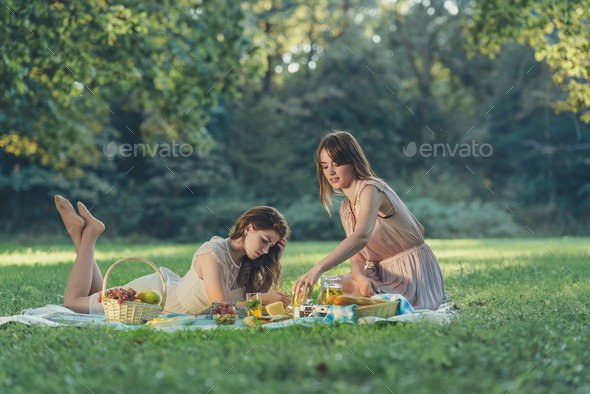 Beautiful girls on vacation - Stock Photo - Images