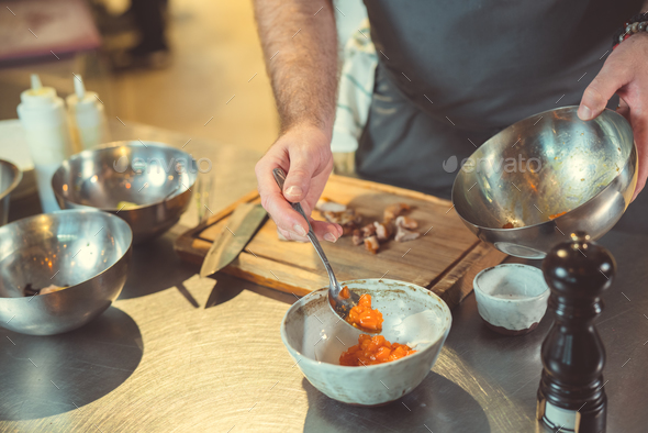 Cooking in the kitchen - Stock Photo - Images