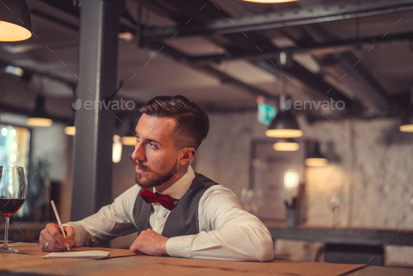 Professional in cafe - Stock Photo - Images
