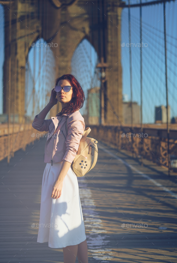 Traveling young woman - Stock Photo - Images
