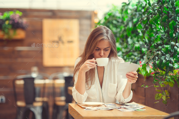 Woman in restaurant - Stock Photo - Images