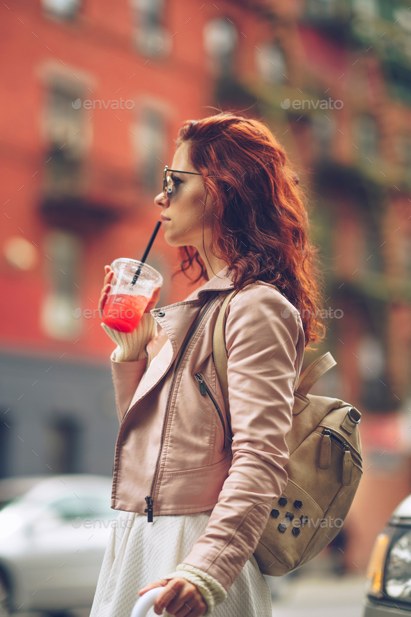Young woman outdoors - Stock Photo - Images