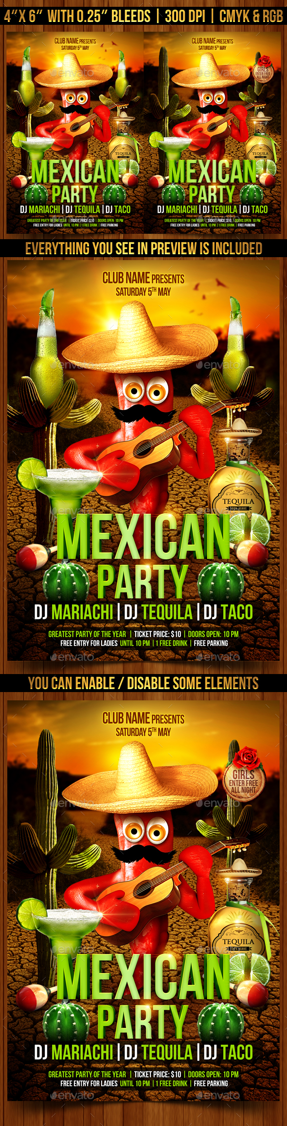 Mexican Party Flyer - Clubs & Parties Events