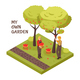 Gardening Isometric Concept