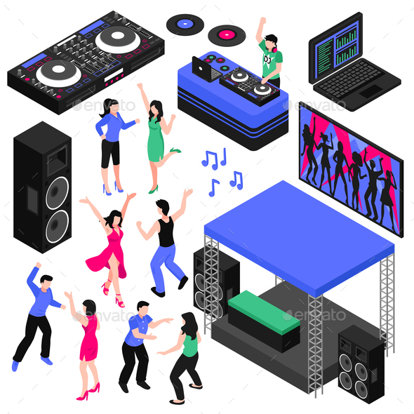 DJ and Music Set - Miscellaneous Vectors