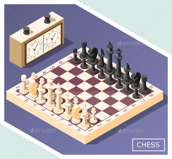Chess Isometric Background - Miscellaneous Vectors